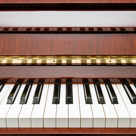 ebony: Modern rosewood acoustic piano Stock Photo