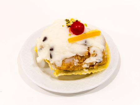 zeppola: Sfincia di San Giuseppe is a dessert from Palermo, Sicily, Italy