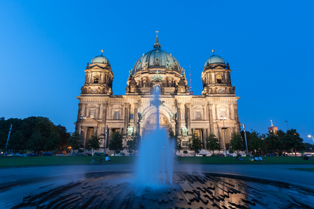 Berlin, Germany - August 26, 2011: Berlin Cathedral (German: Berliner Dom) at sunset