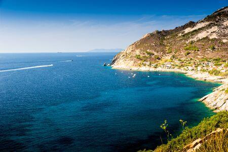 elba: Cristal sea water in Pomonte, Elba island