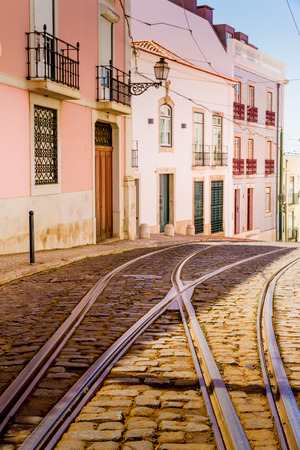 electrico: Alfama is an historic district in Lisbon, Portugal