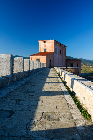 18th-century Casa Rossa Ximenes in the  Natural Reserve of Diaccia Botrona, Italy
