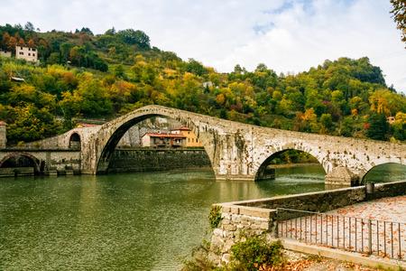 daemon: Bridge of Mary Magdalene near Borgo a Mozzano (Lucca), Italy