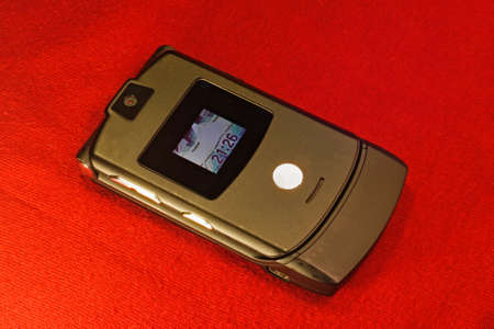 gsm: Pre smartphone era Old clamshell GSM mobile phone