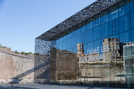 civilisations: Marseille, France - September 20, 2015; The Museum of European and Mediterranean Civilisations (MuCEM) in Marseille, South of France