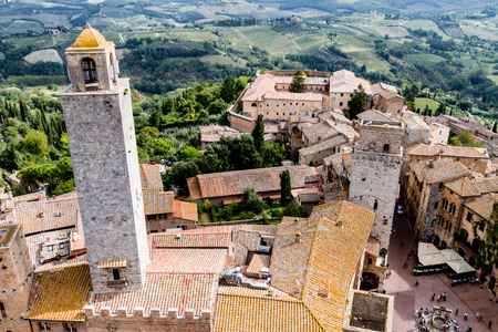 chiantishire: San Gimignano is a small walled medieval hill town in the province of Siena, Tuscany, Italy
