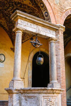 Well in Chigi Saracini Palace in Italy