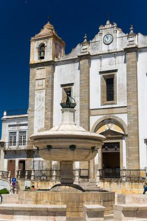 Igreja de Santo Antao in praca do Giraldo in Evora, Portugal