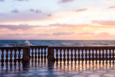 metaphysical: Terrazza Mascagni a Livorno at sunset