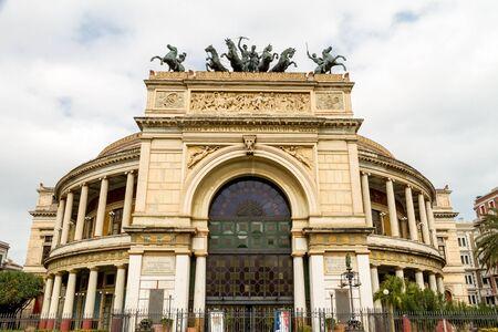 The Politeama Theatre is a theatre of Palermo, it is located in the central Piazza Ruggero Settimo