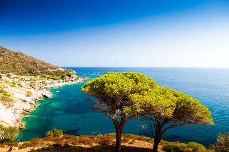 Cristal sea water in Pomonte, Elba island