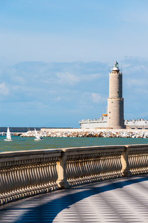 leghorn: Lighthouse seen from Terrazza Mascagni in Leghorn, Italy