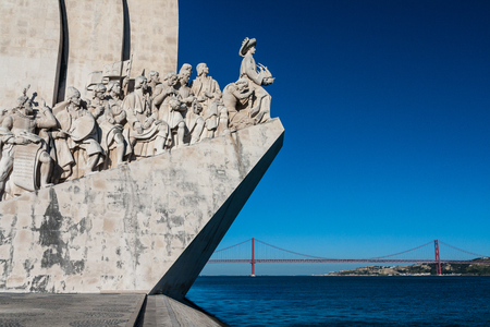 Monument to the Discoveries on the Tagus River estuary in Lisbon