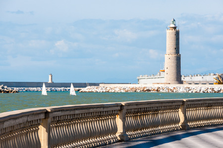 Lighthouse seen from Terrazza Mascagni in Leghorn, Italy