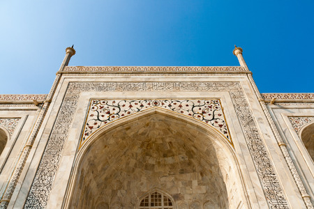 Particular of the Taj Mahal in the Indian city of Agra Stock Photo