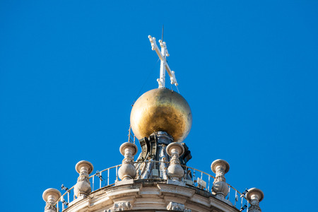 Top of the dome of St. Peters basilica in Vatican City