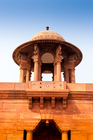 Ministries near Rashtrapati Bhavan, the official home of the President of India, located at the Western end of Rajpath in New Delhi, India. Stock Photo