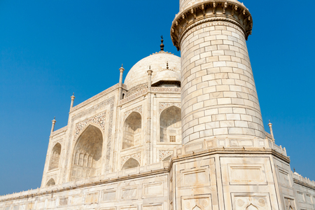 Particular of the Taj Mahal in the Indian city of Agra Editorial