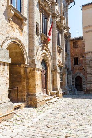 The Nobili-Tarugi palace is a nobiliary palace in Montepulciano, Italy Stock Photo