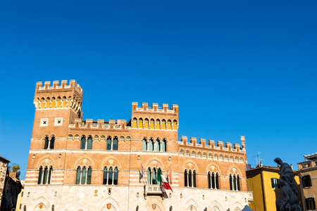 Palazzo Aldobrandeschi (Palazzo della Provincia) in Grosseto city center, Italy