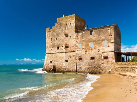 Torre Mozza 16th century Tuscan coastal tower in Piombino Stock Photo