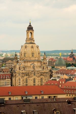 The Dresden Frauenkirche is a Lutheran church in Dresden, Saxony