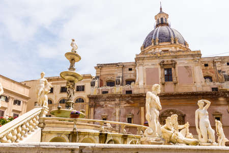 The Praetorian Fountain (Italian: Fontana Pretoria) is a monumental fountain of Palermo, Sicily