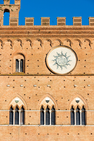 The town hall of siena (1297) is a palace in Siena, Tuscany, central Italy