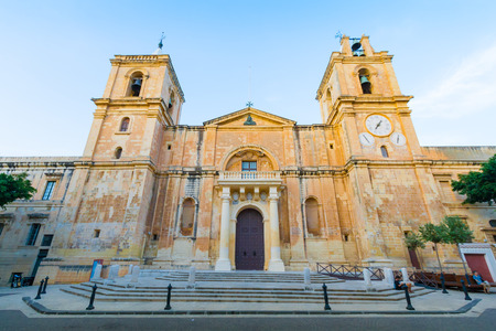St John's Co-Cathedral is a Roman Catholic co-cathedral in Valletta, Malta 스톡 콘텐츠
