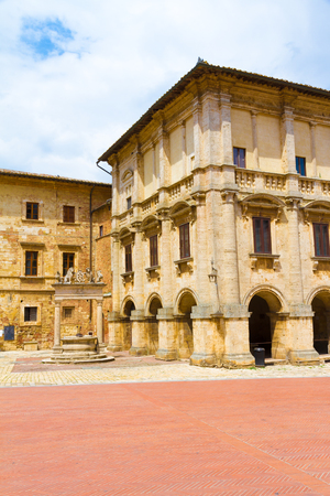 The Nobili-Tarugi palace is a nobiliary palace in Montepulciano, Italy Editorial