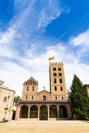 The Monastery of Santa Maria de Ripoll (rebuilt 1886) is a Benedictine monastery in Ripoll, Catalonia, Spain Editorial