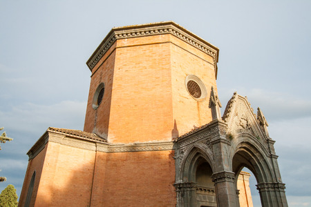 A Chapel built in the second half of the XIX century in Quinciano near Siena, Italy Stockfoto
