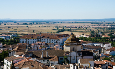 View of Evora in the Alentejo region of Portugal in summer Stockfoto