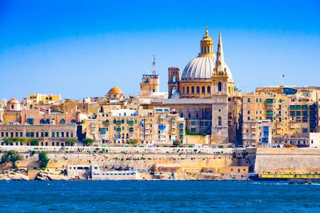 Skyline of Valleta, the capital city of Malta in summer