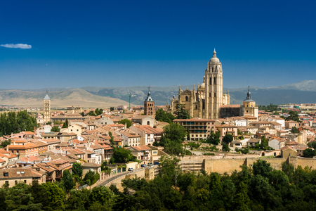 Segovia Cathedral is the Gothic-style Roman Catholic cathedral in Segovia, Spain Stockfoto