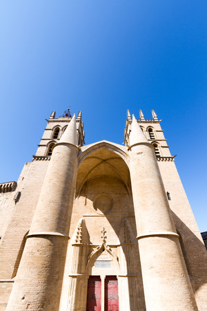 Montpellier Cathedral is a Roman Catholic church located in the city of Montpellier, France. 免版税图像