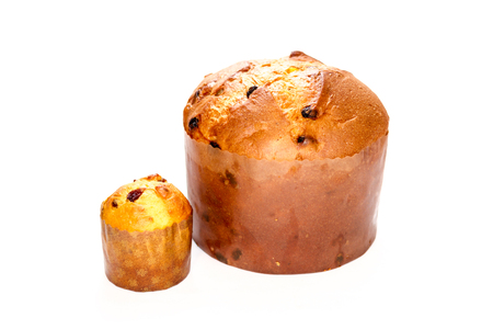 Two different shapes Panettone, italian Christmas Stock Photo