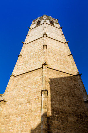 The belfry, known as Micalet, of the Saint Marys Cathedral or Valencia Cathedral in Valencia, Spain Stockfoto