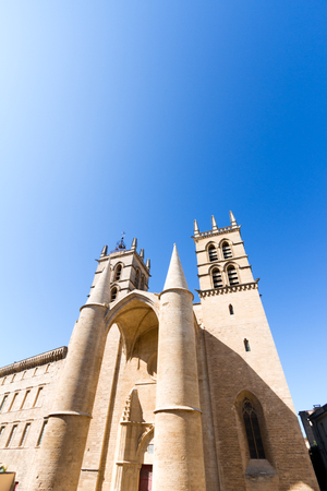 Montpellier Cathedral is a Roman Catholic church located in the city of Montpellier, France. 스톡 콘텐츠