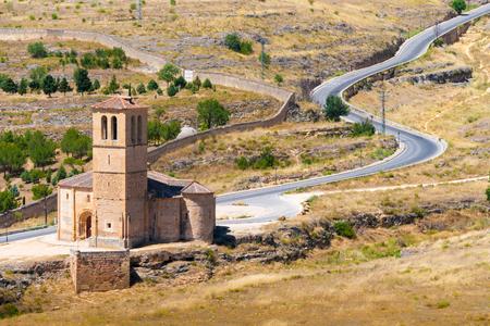 Iglesia de la Vera Cruz is a catholic church in Segovia, Spain Stock fotó