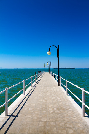A Pier on the Trasimeno lake near Perugia, Italy