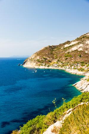 Cristal sea water near Chiessi, Elba island