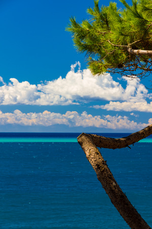 Tropical-like sea and sky in Italy in summer