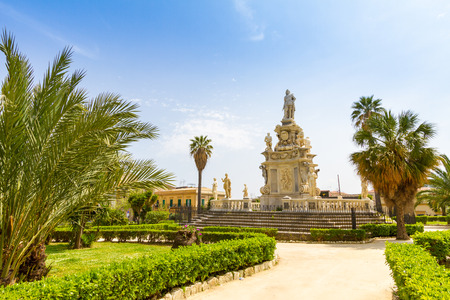 Parliament square near Palace of the Normans in Palermo, Italy