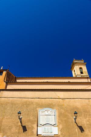 Church in Rio nellElba in summer, Tuscany, Italy