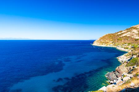 Cristal sea water in Chiessi, Elba island