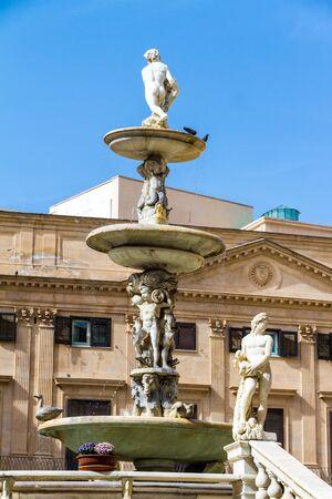 The Praetorian Fountain (Italian: Fontana Pretoria) (1554) is a monumental fountain of Palermo, Sicily