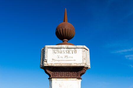 The Montarrenti column is a 1840 road sign built by Leopold II, Grand Duke of Tuscany, Italy