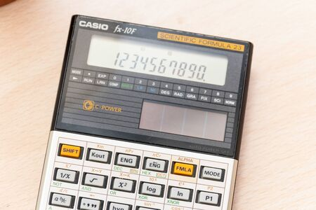 Rome, Italy - Februar 02, 2013: Vintage scientific calculator from late 80s