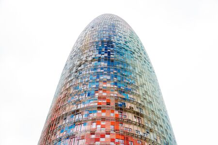 Barcelona, Spain - September 05, 2018: The Torre Glories, formerly known as Torre Agbar in a beautiful autumn light in Barcelona, Spain Sajtókép